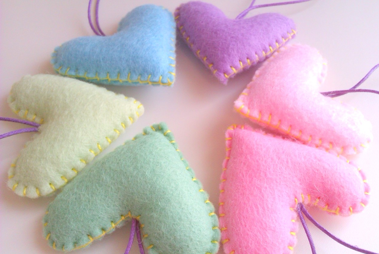 Home/Party/Wedding Hearts Decorations - Pastel, Pale - Set Of 6 ...